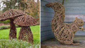 Плетемо із лози: неймовірні фігури для саду