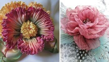 20 способів зробити квітку зі стрічки самотужки