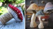 20 ідей грибочків із тканини
