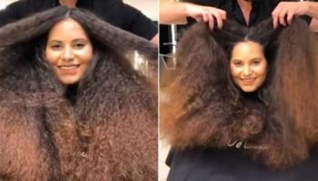 Дівчина з неслухняним волоссям вийшла з салону ефектною красунею