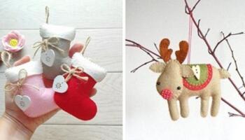 Ідеї та викрійки ялинкових іграшок. Шиємо самотужки