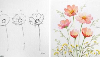 Художниця з Кореї показала, як легко та швидко можна навчитися малювати квіти