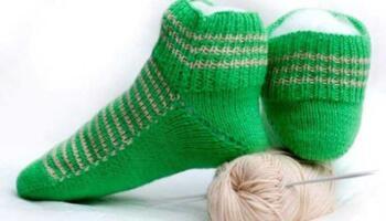 Шкарпетки на двох спицях без шва. Простий спосіб, який сподобається всім!