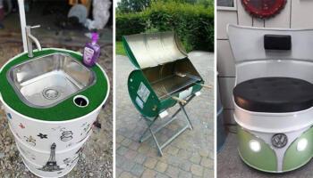 Перетворюємо металеву бочку на корисну річ для дому чи саду. Ідеї