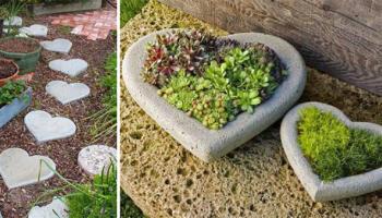 Цемент можна використовувати не тільки в будівництві! 15 ідей декору для саду