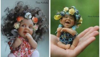 Чудові лялечки з полімерної глини Олени Кириленко